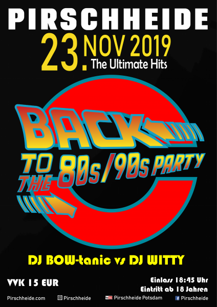 4. Back to the 80s/90s Party